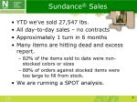 sundance sales