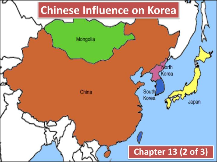 chinese influence on korea n.