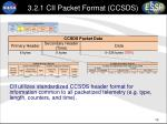 3 2 1 cii packet format ccsds