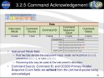3 2 5 command acknowledgement