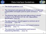 data interface guidelines