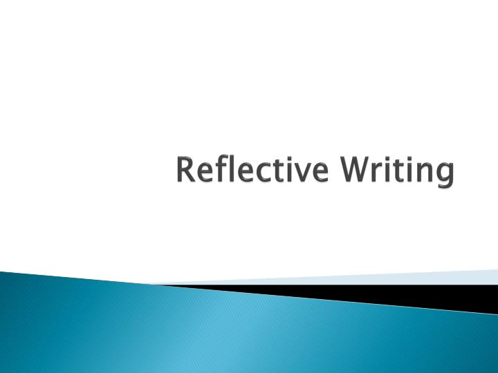 reflective writing n.