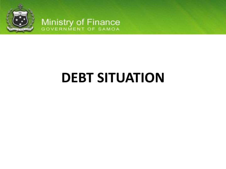 debt situation n.