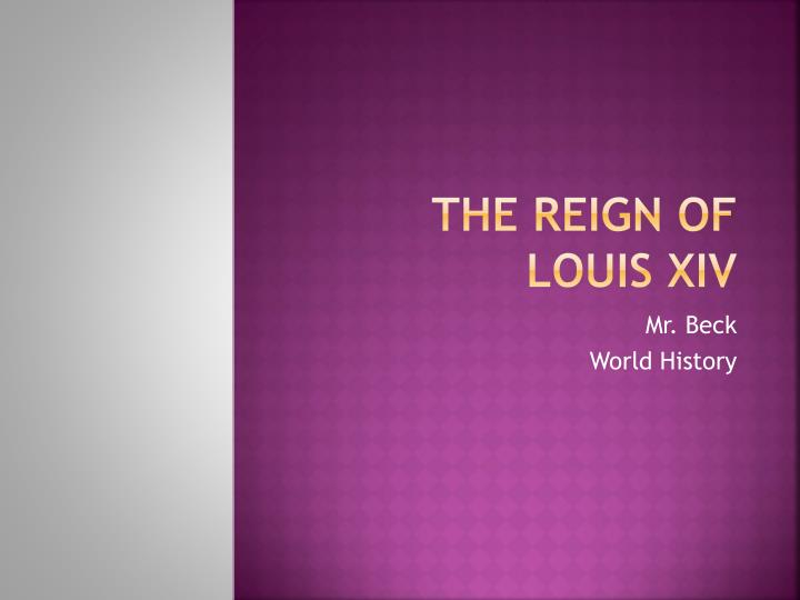 the reign of louis xiv n.