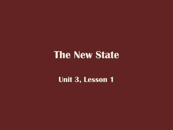 the new state n.