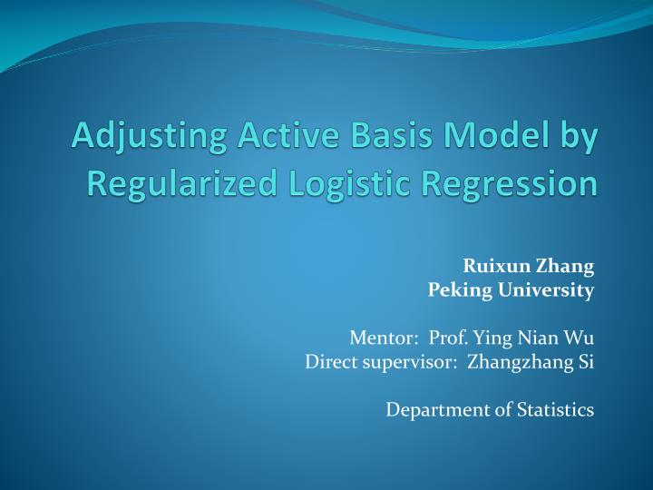 adjusting active basis model by regularized logistic regression n.