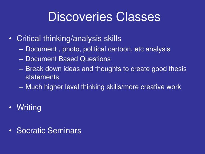 Discoveries Classes