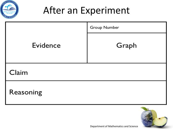 After an Experiment