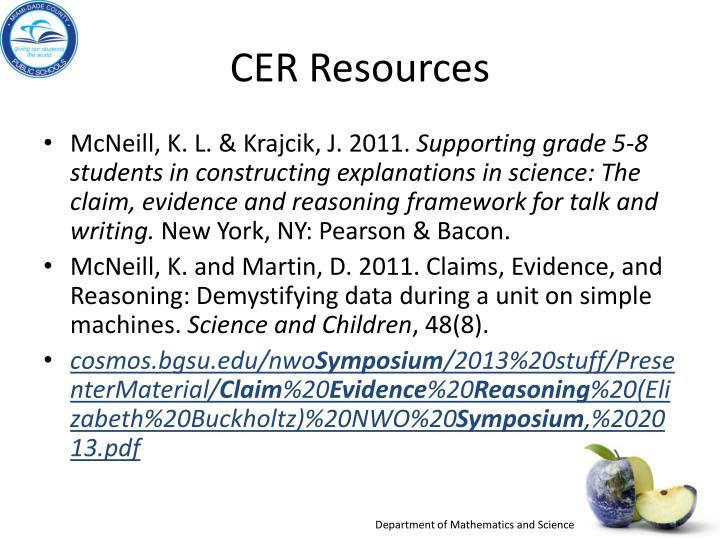 CER Resources