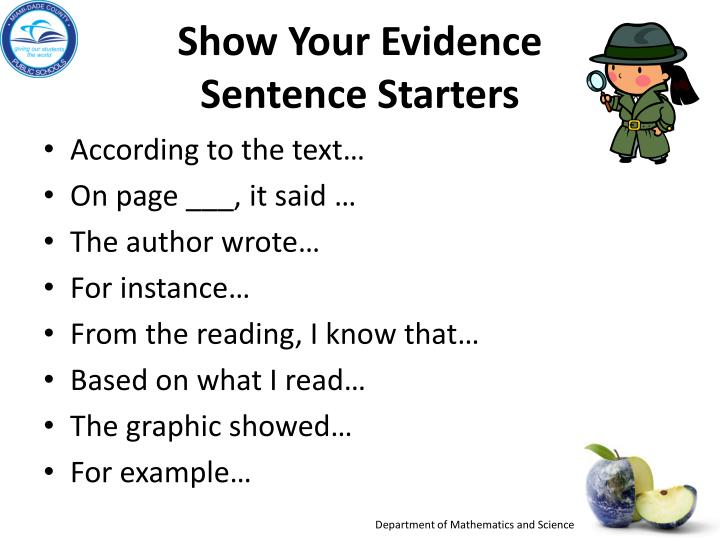 Show Your Evidence