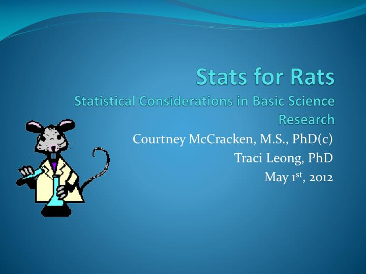 stats for rats statistical considerations in basic science research n.