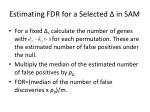 estimating fdr for a selected in sam