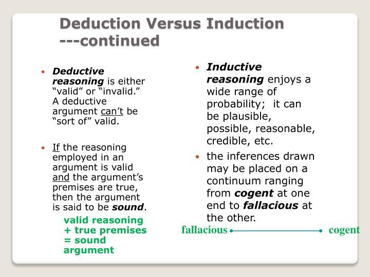Inductive reasoning essay