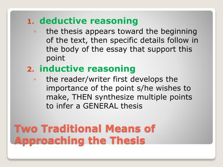 deductive paragraph definition