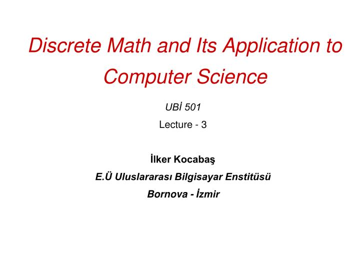 discrete math and its application to computer science n.