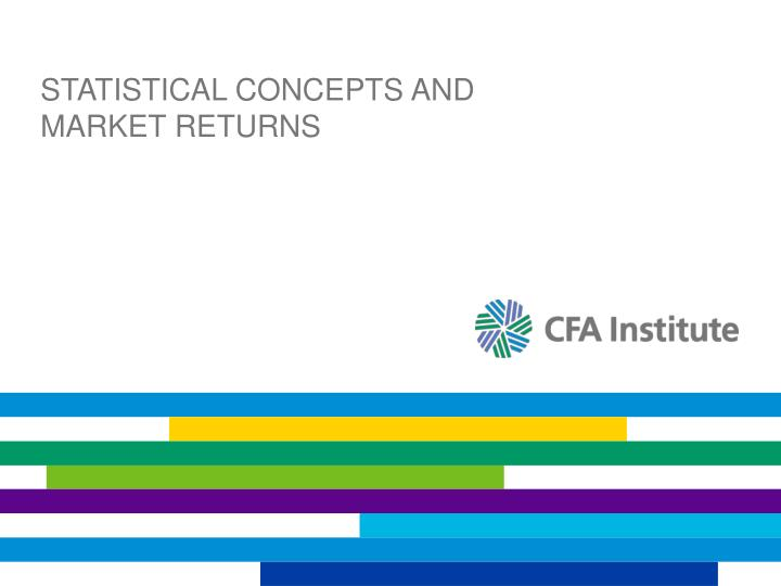 statistical concepts and market returns n.