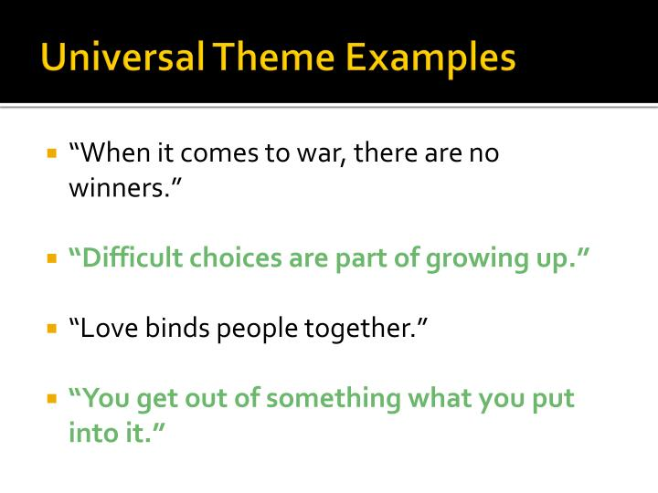 universal theme examples