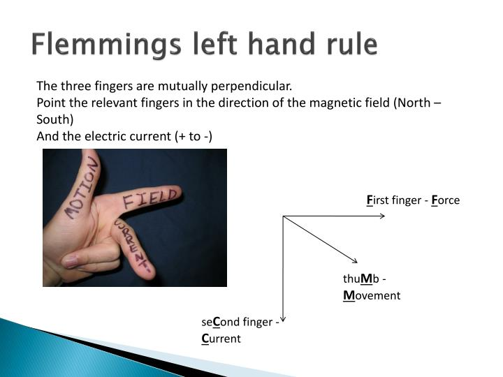 Flemmings left hand rule