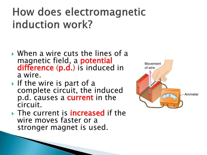 How does electromagnetic induction work?