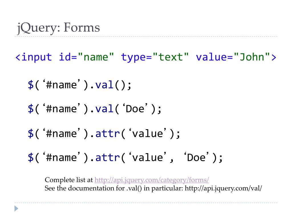 PPT - jQuery Javascript Framework PowerPoint Presentation