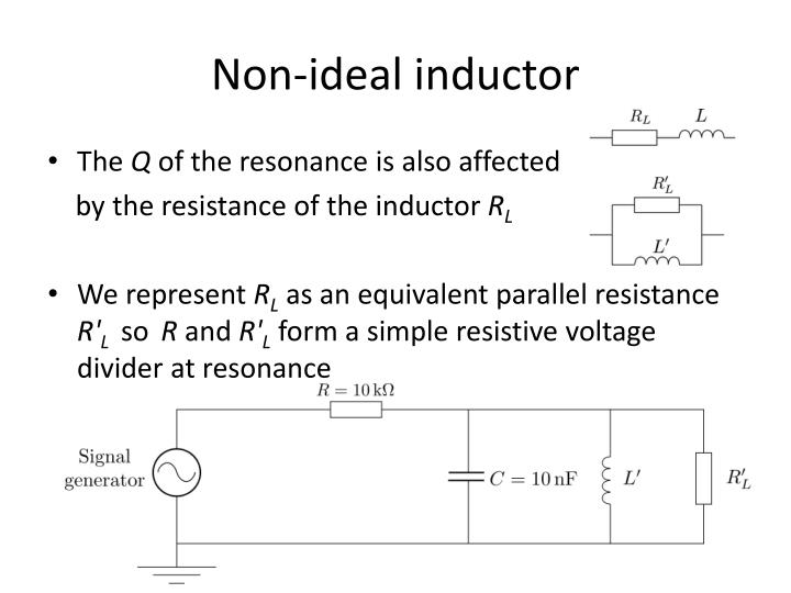 Non-ideal inductor