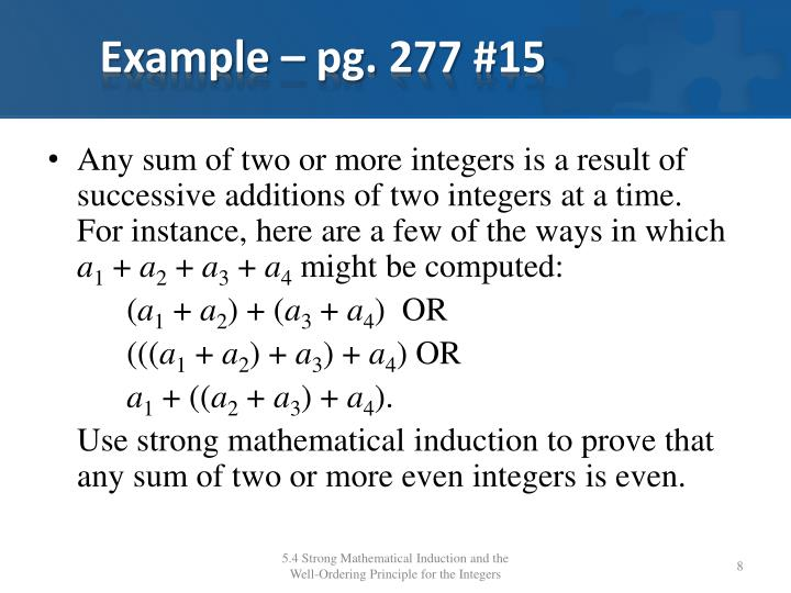 Example – pg. 277 #15