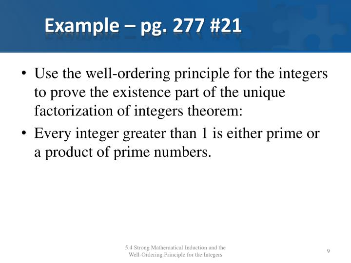 Example – pg. 277 #21