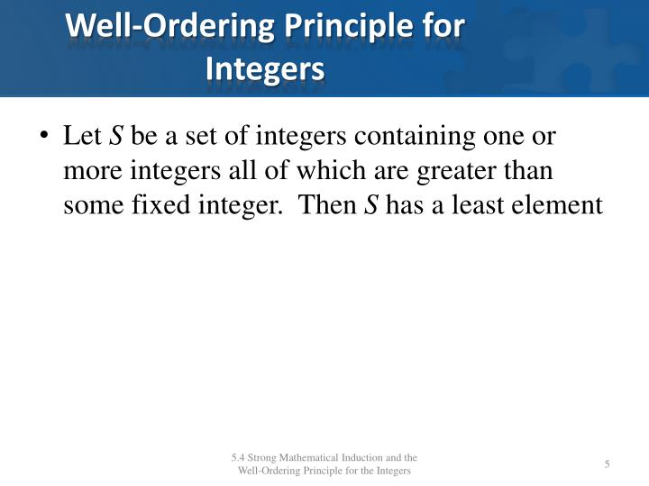 Well-Ordering Principle for Integers
