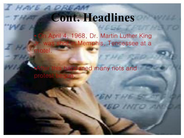 Cont. Headlines