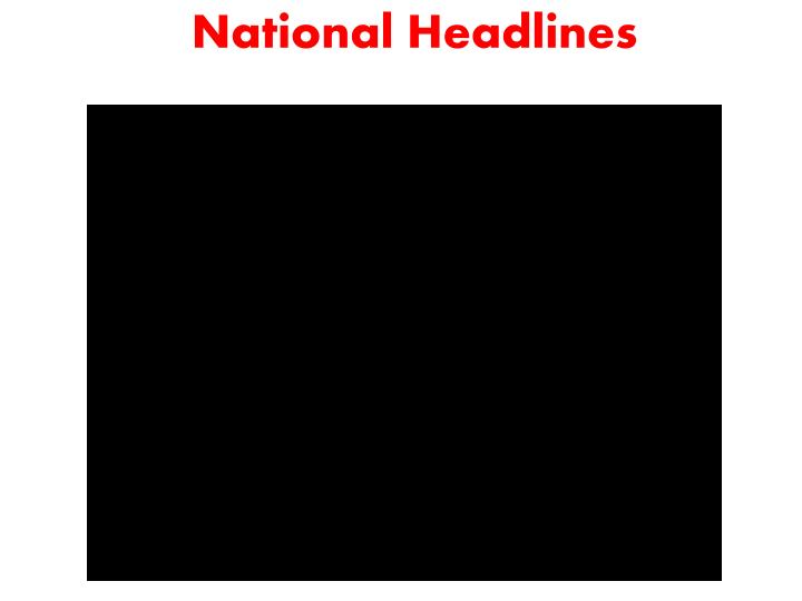 National Headlines
