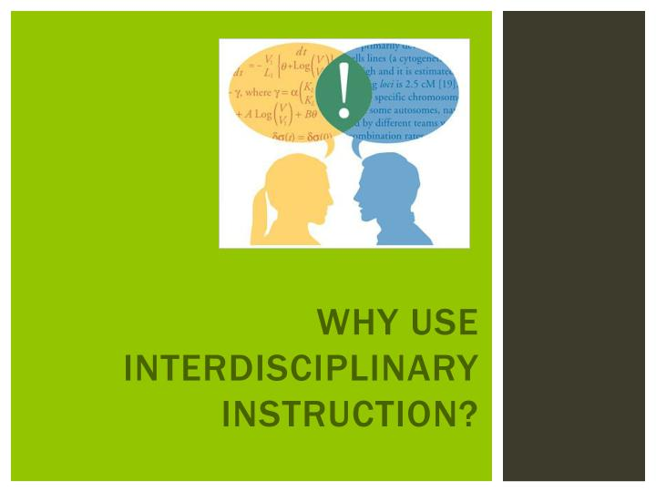 Ppt Interdisciplinary Learning In Action Powerpoint Presentation