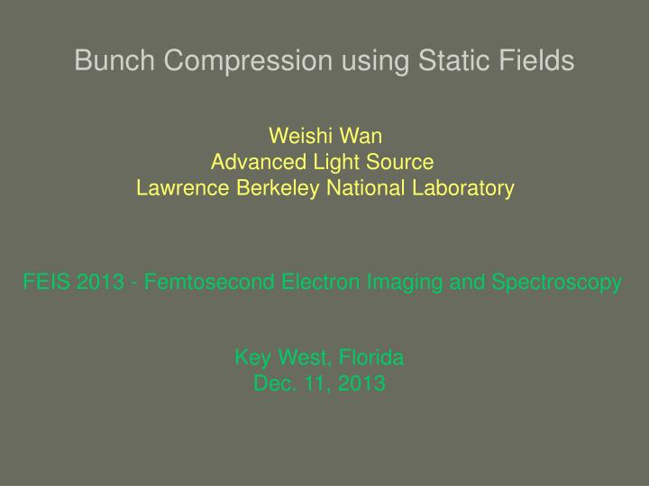 bunch compression using static fields n.