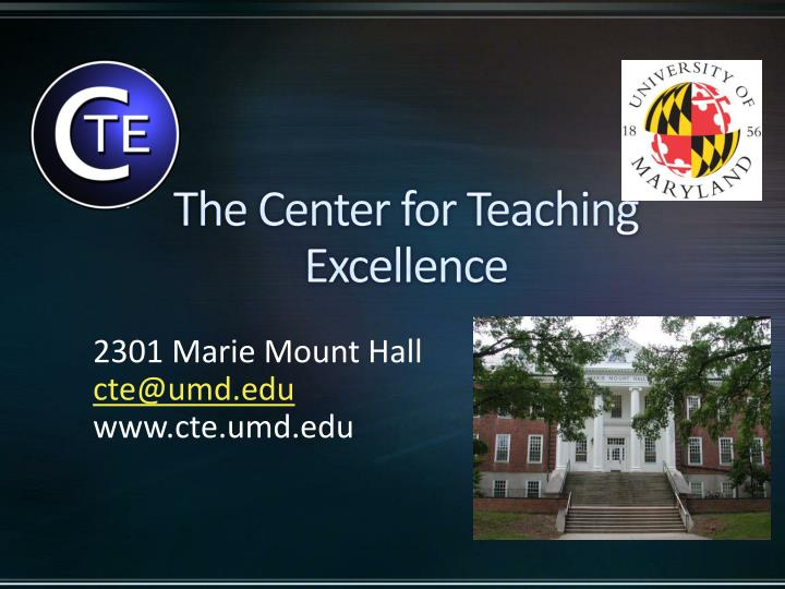 the center for teaching excellence n.