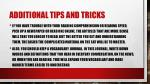 additional tips and tricks1