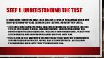 step 1 understanding the test2