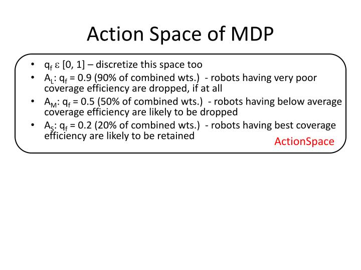Action Space of MDP