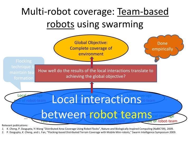 Multi-robot coverage: