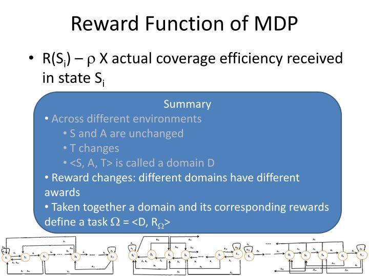 Reward Function of MDP