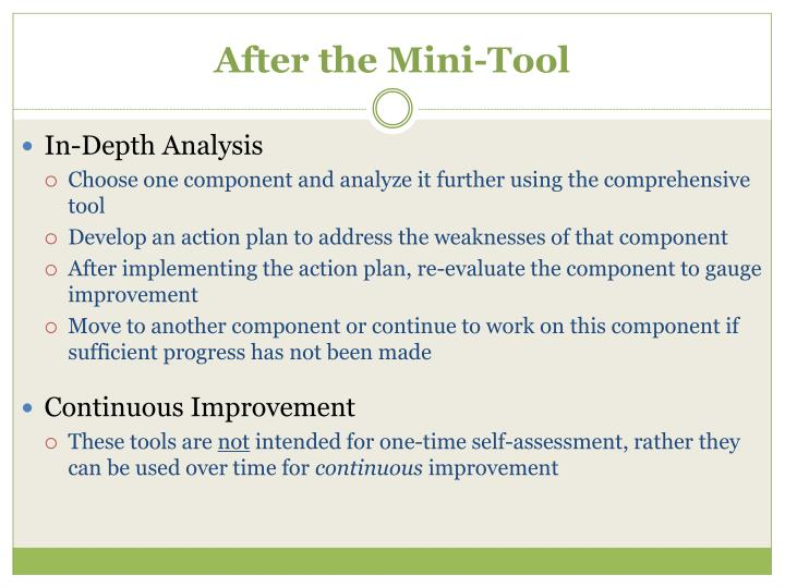 After the Mini-Tool