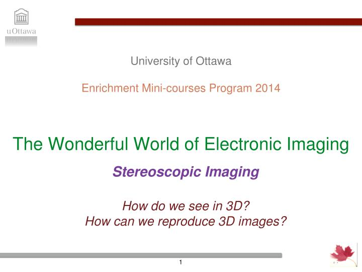the wonderful world of electronic imaging n.