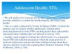 adolescent health stis4