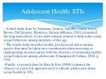 adolescent health stis5