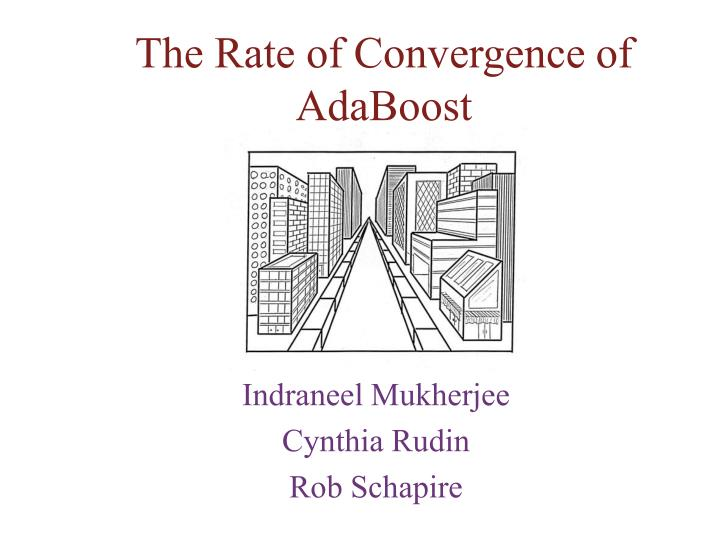 the rate of convergence of adaboost n.
