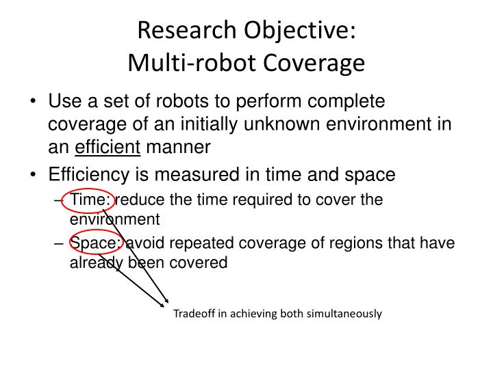 Research objective multi robot coverage