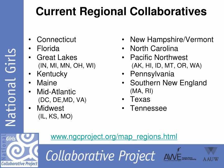 Current Regional Collaboratives