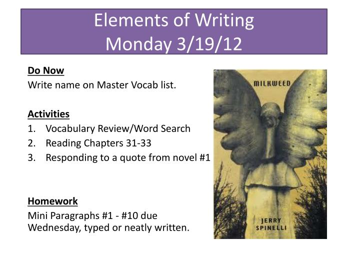 elements of essay powerpoint presentation Elements of an essay language and composition fall 2011 do now pass in your homework take a packet from the front table complete the k and w columns of the kwl today in class review the elements of a successful essay complete the essay mapping exercises slideshow 2567097 by.