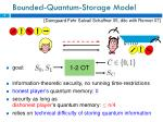 bounded quantum storage model