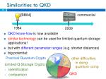 similarities to qkd
