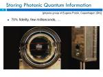 storing photonic quantum information1