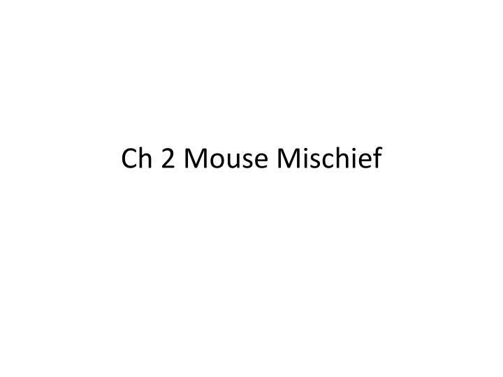 ch 2 mouse mischief n.